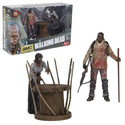 Walking Dead Morgan and Impaled Walker Deluxe Figure Box Set