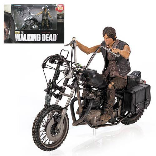 Walking Dead Daryl Dixon Figure & Motorcycle Deluxe Box Set