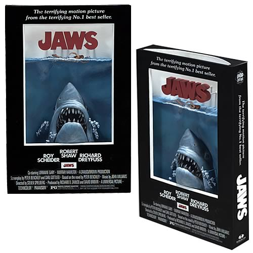 Jaws 3-D Movie Poster Sculpture