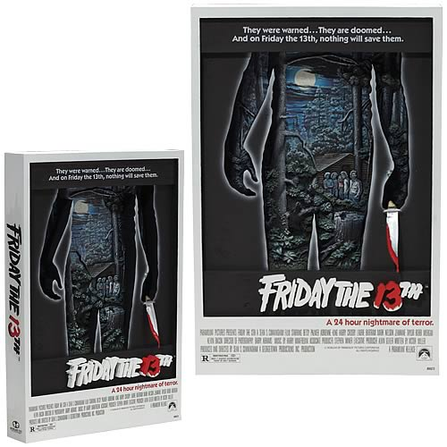 Friday the 13th 3-D Movie Poster Sculpture