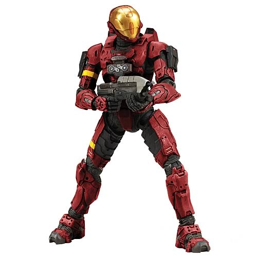 Halo 3 Spartan Red EVA Armor Soldier Action Figure