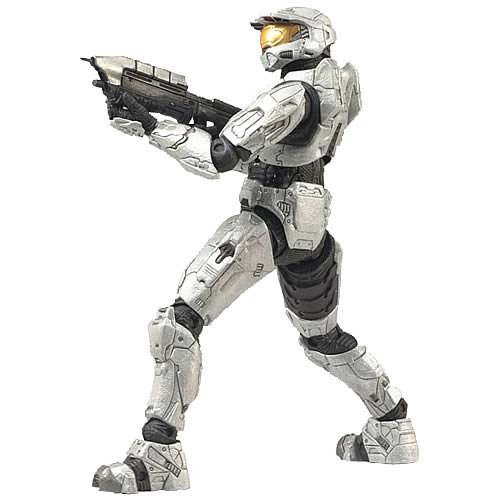 Halo 3 Spartan Soldier White Mjolnir Armor Action Figure
