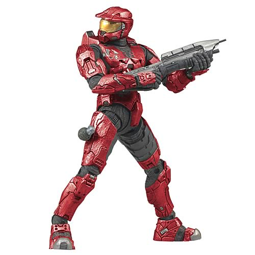 Halo 3 Spartan Red Mark VI Soldier Action Figure