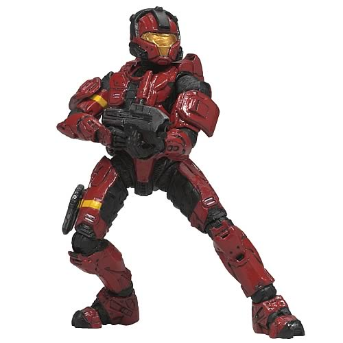 Halo 3 Series 2 Red CQB Spartan Soldier Action Figure