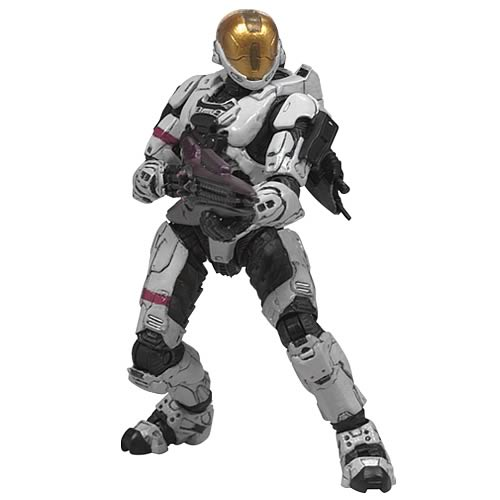 Halo 3 Series 2 Spartan Soldier White EVA Armor Figure