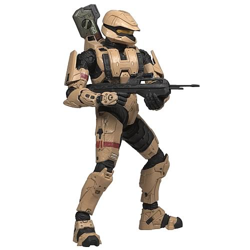 Halo 3 Series 2 Tan Spartan Soldier Scout Action Figure