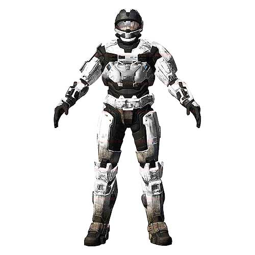 Halo Reach Series 2 Spartan CQC Custom (White) Figure