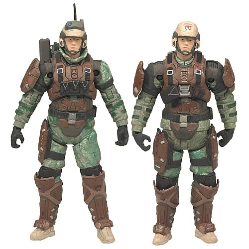 Halo Reach Series 3 Medic Trooper and Radio Trooper Figures
