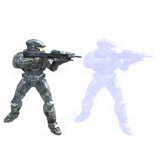 Halo Reach Series 4 Noble Six and Noble Six Hologram Figures