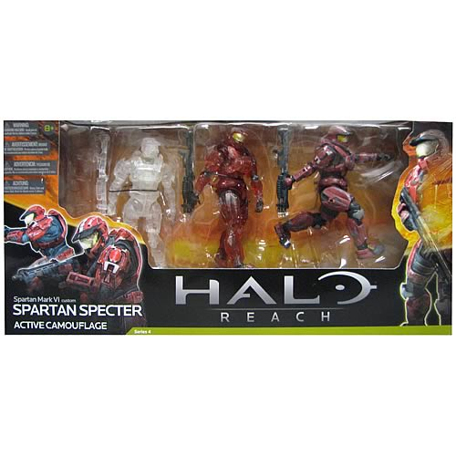 Halo Reach Series 4 Spartan Specter Action Figure 3-Pack