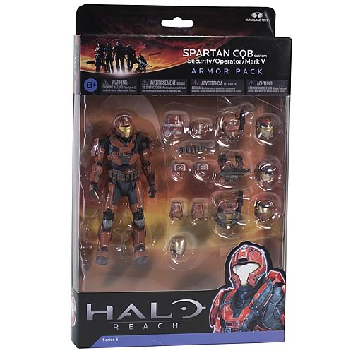 Halo Reach Series 5 Spartan CQB Custom and Rust Armor Set