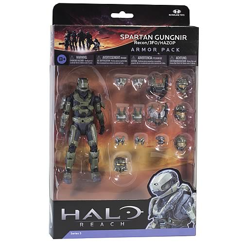 Halo Reach Series 5 Spartan Gungnir and Sage Armor Set