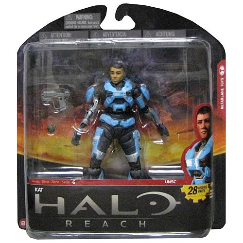 Halo Reach Series 6 Kat Unhelmeted Action Figure