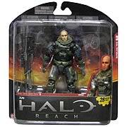 Halo Reach Series 6 Jun Unhelmeted Action Figure