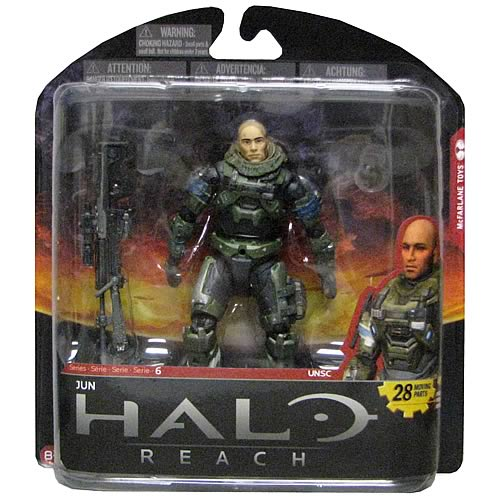 Halo Reach Series 6 Jun Unhelmeted Action Figure