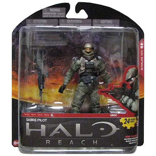 Halo Reach Series 6 Sabre Pilot Action Figure