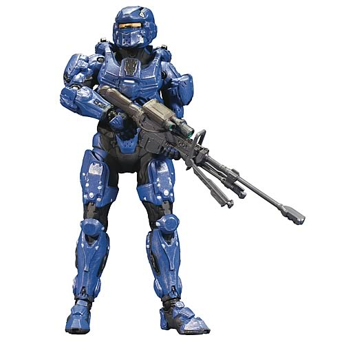 Halo 4 Series 1 Blue Spartan Soldier Action Figure