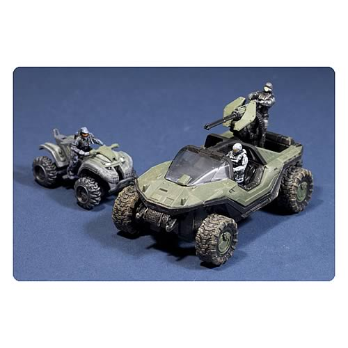 Halo Micro Ops Series 1 Warthog and Mongoose Mini Vehicles