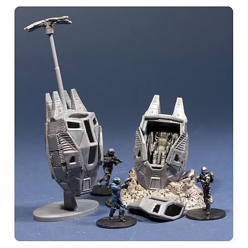 Halo Micro Ops Series 1  ODST Drop Pods Mini Vehicles Pack