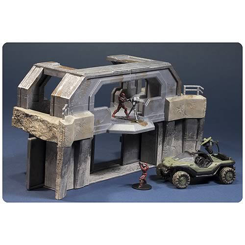Halo Micro Ops  High Ground Gate, Warthog & Spartan Figures