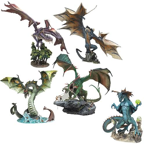 McFarlane Dragons Series 5 Action Figures Case