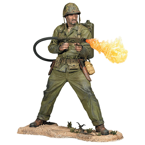 Call of Duty WWII Marine Corps with Flamethrower Figure ...