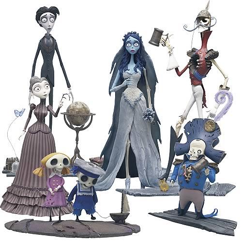 Corpse Bride Action Figure Series 1 Set