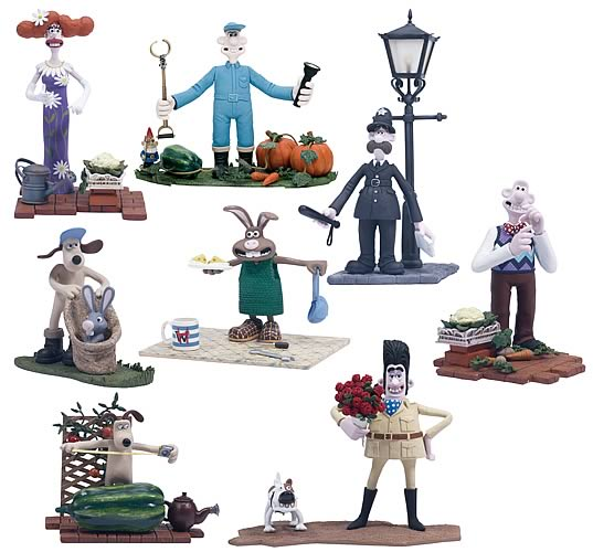 Wallace And Gromit Toys : Wallace gromit inch action figure set b mcfarlane