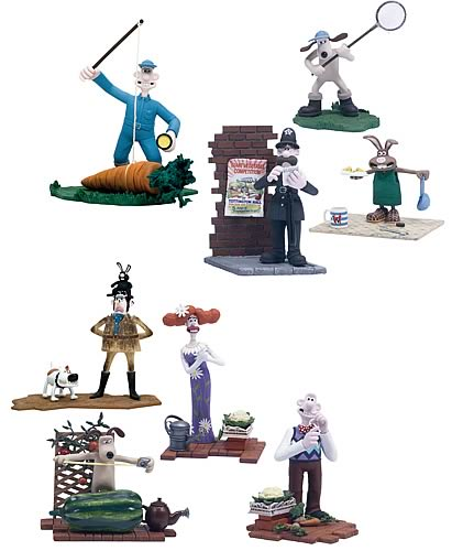 Wallace And Gromit Toys : Wallace gromit inch pvc figures case mcfarlane toys