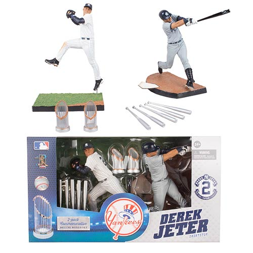 MLB Derek Jeter Commemorative Action Figure 2-Pack