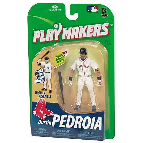 MLB Playmakers Series 1 Dustin Pedroia Action Figure