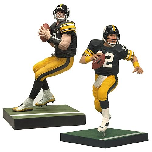 NFL Steelers Roethlisberger and Bradshaw Action Figures
