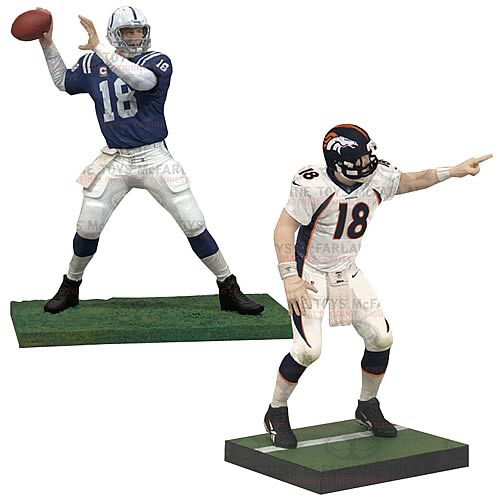 NFL Peyton Manning Colts and Broncos Action Figure 2-Pack