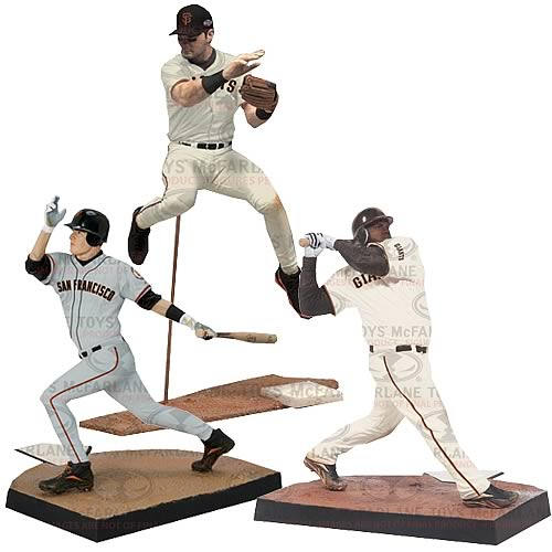 MLB San Francisco Giants Championship Baseball Figure 3-Pack