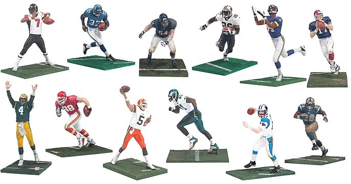 NFL 3 inch Series 2 Figures  McFarlane Toys  Sports: Football  Action Figures at