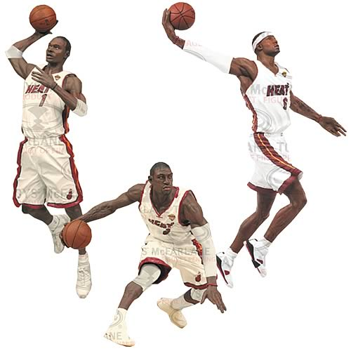 NBA Miami Heat Championship Action Figure 3-Pack