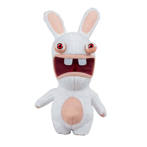 Rabbids Invasion Raving Rabbid 2 Red Eyes Talking Plush