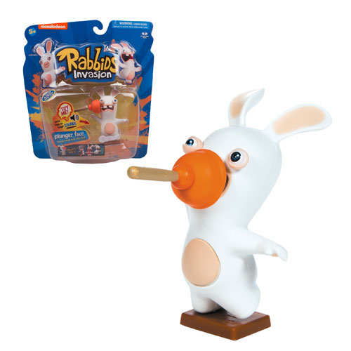 Rabbids Invasion Plunger Face Talking Action Figure