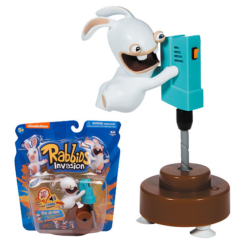 Rabbids Invasion Driller Talking Action Figure