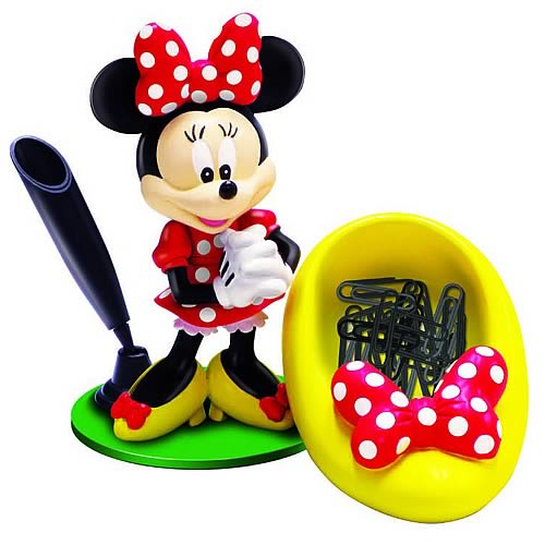Disney Minnie Mouse Paper Clip Holder Statue