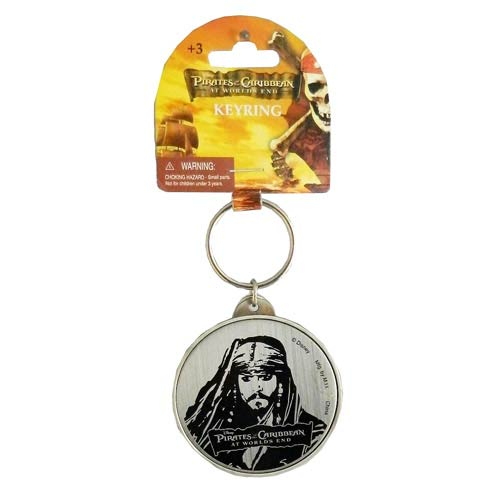 Pirates of the Caribbean 3 Jack's Head Pewter Key Chain