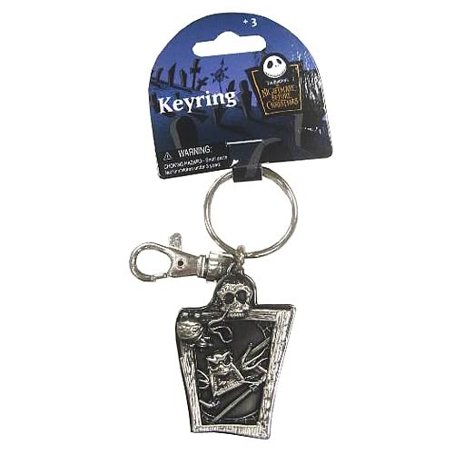 NBX Jack Skellington and Scary Teddy Pewter Key Chain