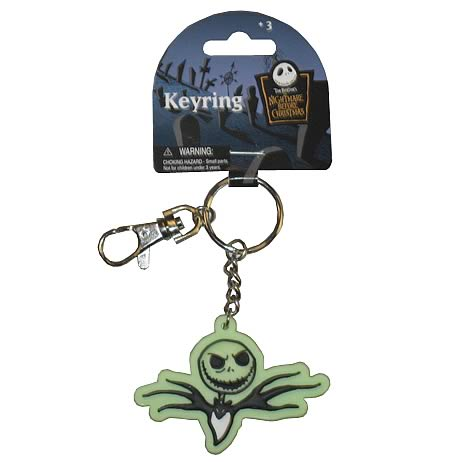 NBX Jack Skellington Glow in the Dark Laser Cut Key Chain