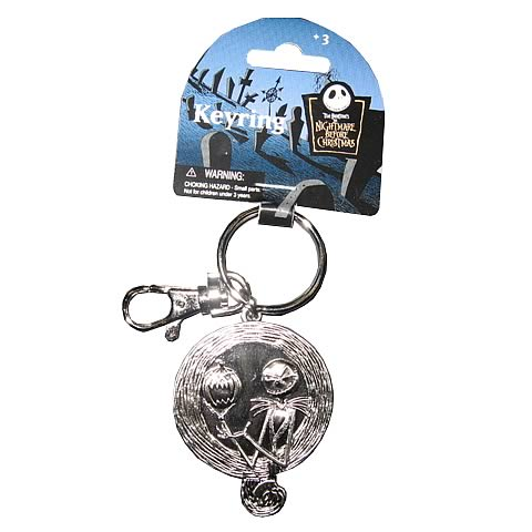 NBX Jack Skellington with Pumpkin Pewter Key Chain