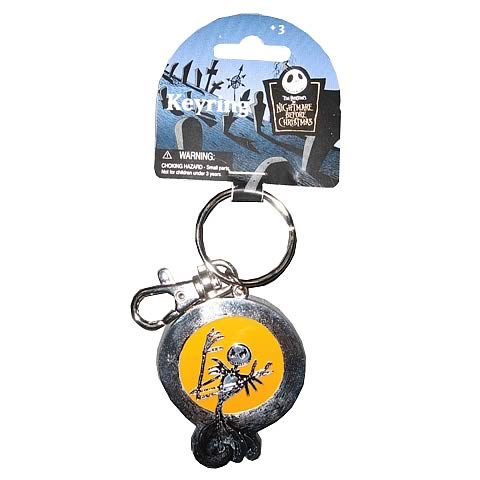 NBX Jack Skellington Color Pewter Key Chain