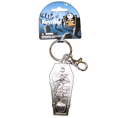 NBX Jack Skellington Logo Coffin Pewter Key Chain