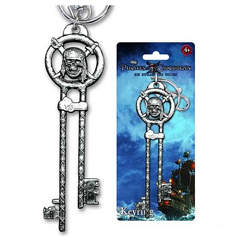 Pirates of the Caribbean Pirate Key Pewter Key Chain