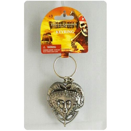 Pirates of the Caribbean 3 Crab Locket Pewter Key Chain