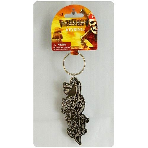Pirates of the Caribbean 3 Dragon Wrapped Knife Key Chain
