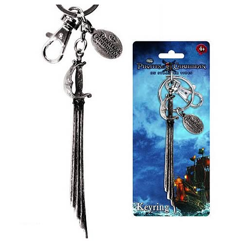 Pirates of the Caribbean Captain's Sword Pewter Key Chain